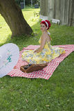 Pin up picnic Stock Photos
