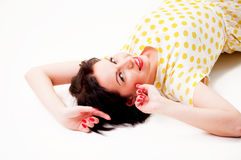 Pin-up portrait Royalty Free Stock Photo