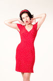 Pin-up portrait Royalty Free Stock Photos