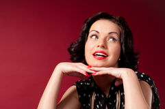 Pin-up portrait. Series of  pin-up studio portraits,  Retro - style Royalty Free Stock Photos