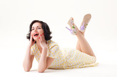 Pin-up portrait Stock Photo