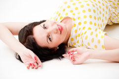 Pin-up portrait. Series of  pin-up studio portraits Royalty Free Stock Photo