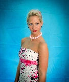Pin-up portrait of woman Royalty Free Stock Image