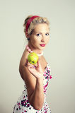 Pin-up portrait of woman Royalty Free Stock Photography