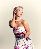 Pin-up portrait of woman Royalty Free Stock Photos