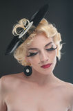 Pin-up porttait of blond woman Royalty Free Stock Photos