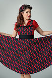 Pin-Up Pretty Girl Royalty Free Stock Photography