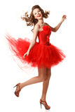 Pin-up in red Stock Photography