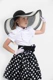 Pin-up retro girl Stock Photography
