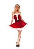 Pin up santa girl Royalty Free Stock Photos