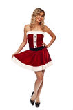 Pin up santa girl Stock Image