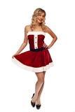 Pin up santa girl Stock Image