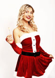 Pin up santa girl Royalty Free Stock Image