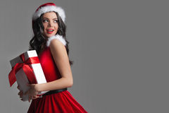 Pin-up Santa girl Stock Image