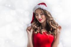 Pin-up Santa girl Stock Images