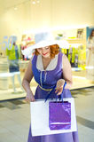 Pin-up shopping Royalty Free Stock Images