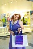 Pin-up shopping Stock Photo