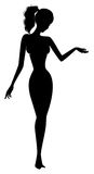 Pin-up silhouette Royalty Free Stock Photo