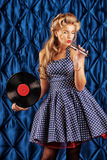 Pin-up singer Royalty Free Stock Photography