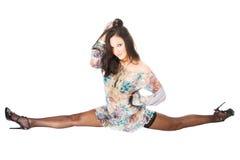Pin-up style beautiful brunette girl Stock Photos