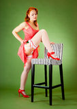 Pin-up style girl Stock Image