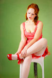 Pin-up style girl Royalty Free Stock Photography
