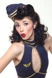 Pin Up Style Girl en estudio Fotografía de archivo libre de regalías
