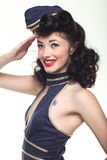 Pin Up Style Girl en estudio Foto de archivo libre de regalías