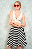 Pin-up style girl Stock Photo