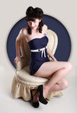 Pin Up Style Girl in Studio Royalty Free Stock Images