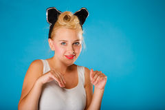 Pin up style, retro girl. Stock Photography