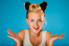 Pin up style, retro girl. Royalty Free Stock Photography
