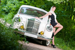 Pin-up styled girl Stock Photography