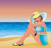 Pin up summer sexy girl Stock Photography