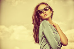 Pin-up sunglasses Royalty Free Stock Images