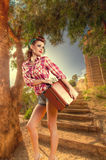 Pin up vintage retro lifestyle Royalty Free Stock Images
