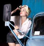 Pin-up woman Royalty Free Stock Images