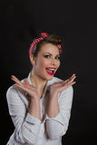 Pin-up woman Royalty Free Stock Photography