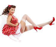 Pin-up woman posing, Stock Images