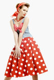 Pin-up young woman in vintage American style Royalty Free Stock Image