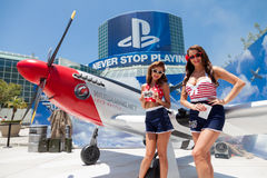 Pin ups at E3 2012 Stock Image
