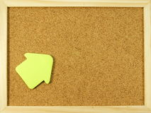 Pin wall. Empty cork pin wall with paper and wooden frame Stock Photography