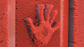 Pin wall and hand stock footage