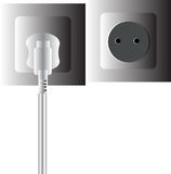 2pin wall plug. Use of domestic Stock Images