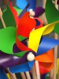 Pin-wheels colorés Photo libre de droits