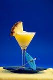 Pina Colada. A refreshing summer drunk - pina colada over a blue background Stock Photo
