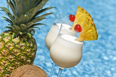 Pina Colada Cocktail Lizenzfreie Stockfotos