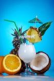 Pina Colada - cocktail avec de la crème Image libre de droits