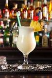 Pina Colada. Cocktail on a bar counter royalty free stock photos