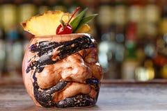 Pina colada cocktail on the bar Royalty Free Stock Image
